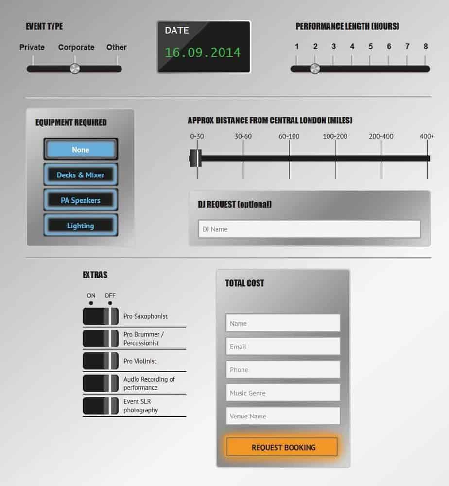 Book a DJ calculator - Storm DJs