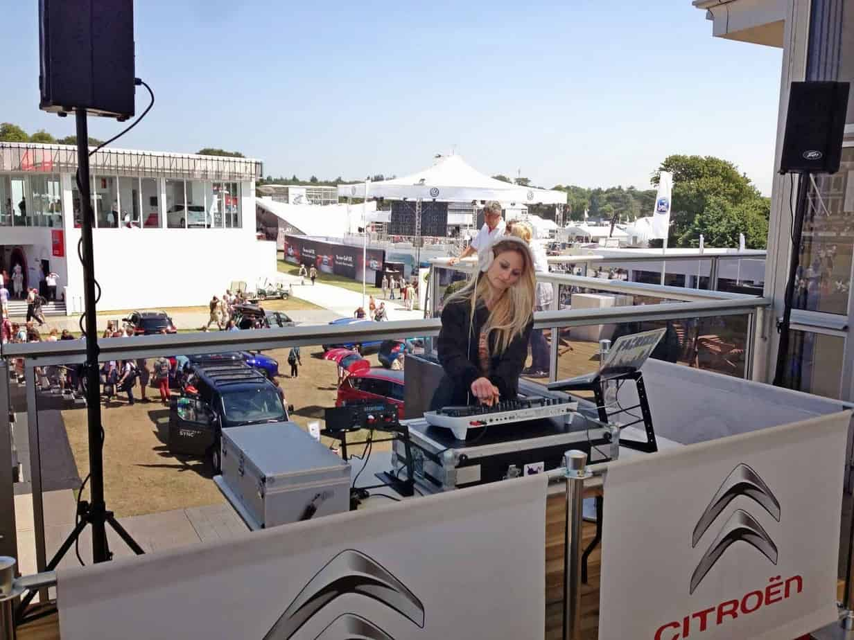 DJ Fabrizia - Goodwood Festival of Speed - Citroen - Storm DJs