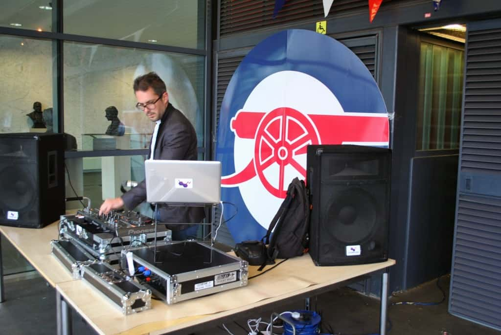 DJ Tom Hastings - Arsenal Emirates Stadium - Storm DJs