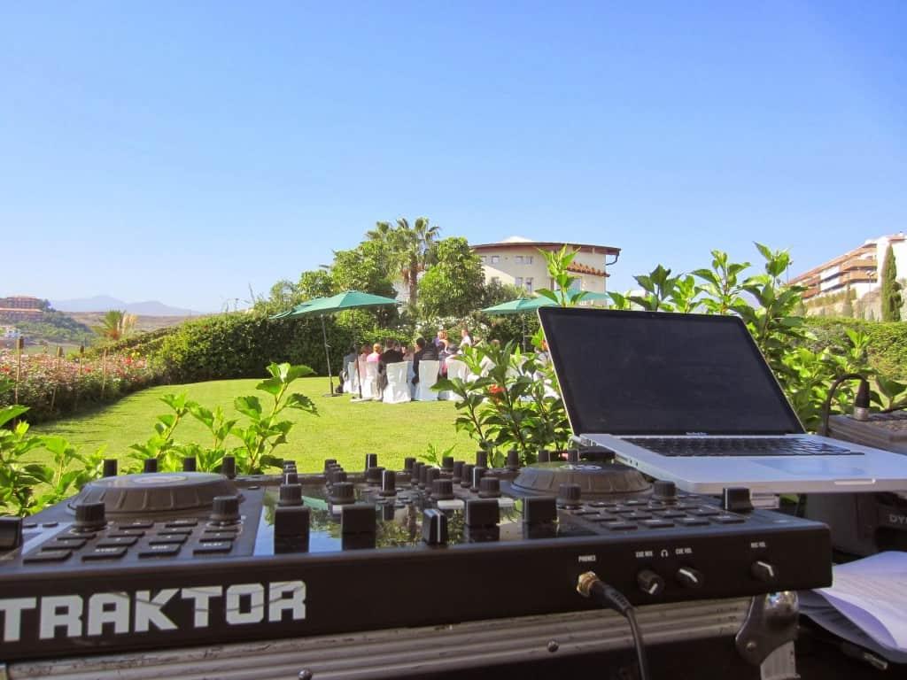 DJ set-up in Marbella Spain - Storm DJs
