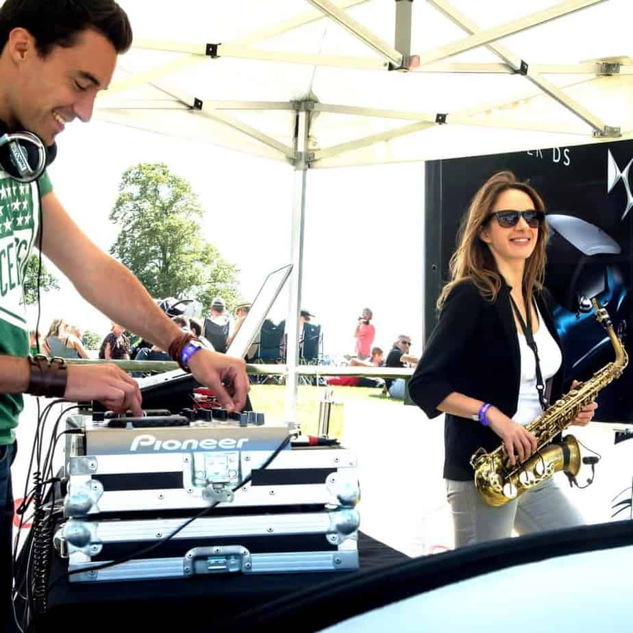 CarFest DJ and Saxophonist - Citroen - Storm DJs hire