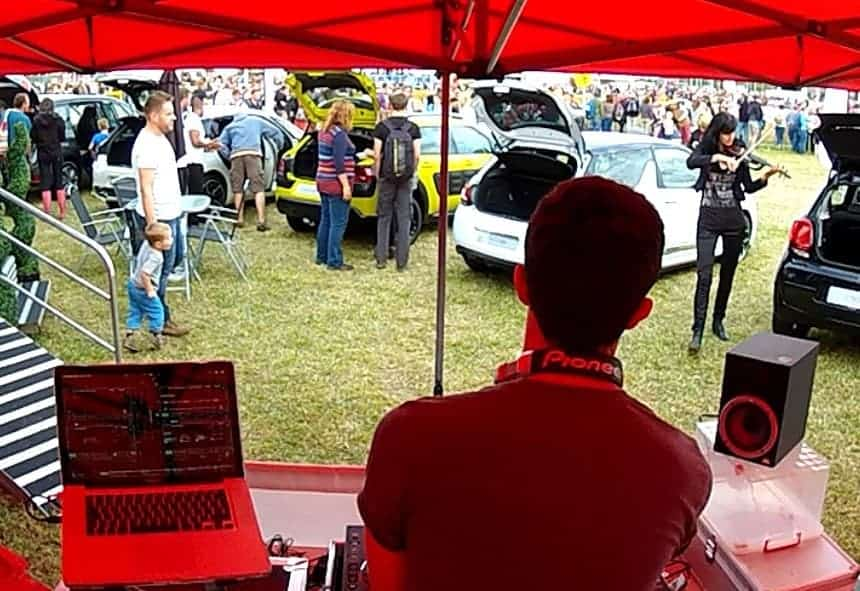 DJ with Violinist - CarFest - Storm DJs Hire Agency