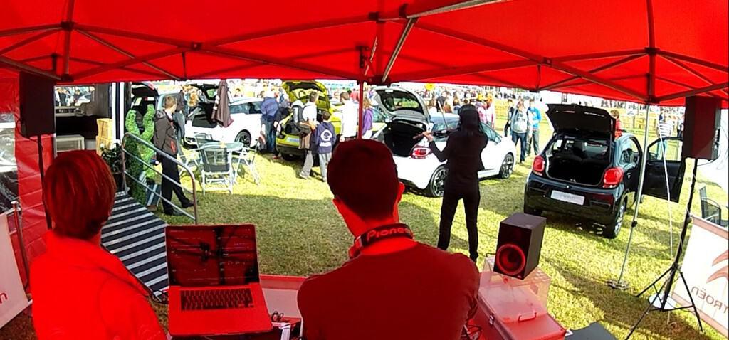 DJ with Violinist - CarFest - Storm DJs Hire Agency