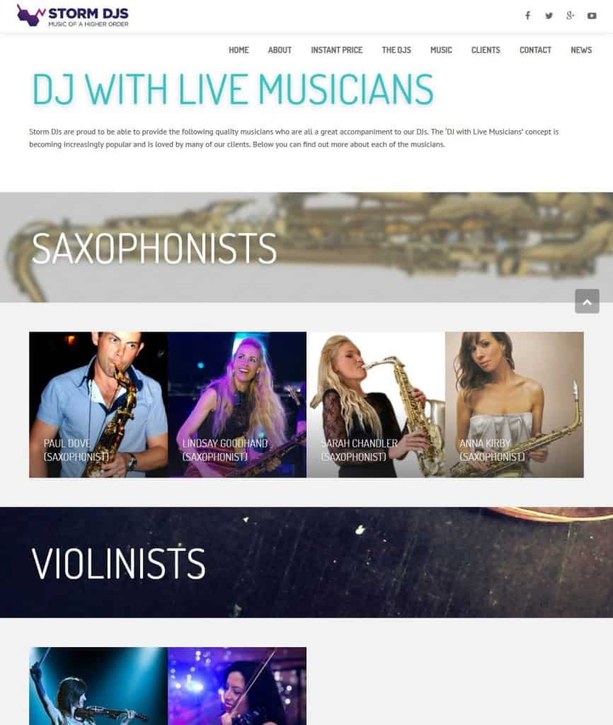 Hire a DJ and Musician - Storm DJs - London