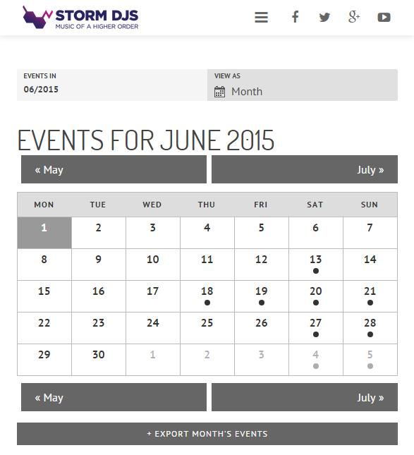 Events for June 2015 - Storm DJs London DJ Hire
