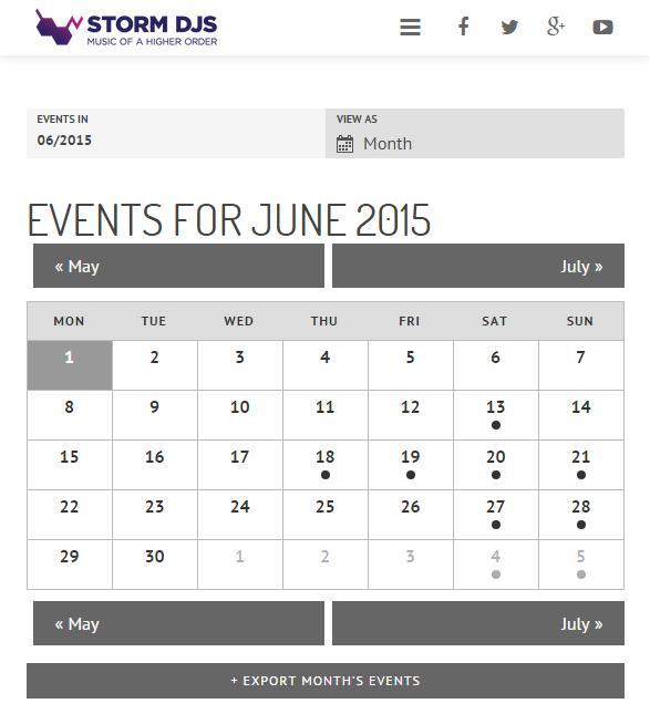 Events for June 2015 - Storm DJs London DJ Hire