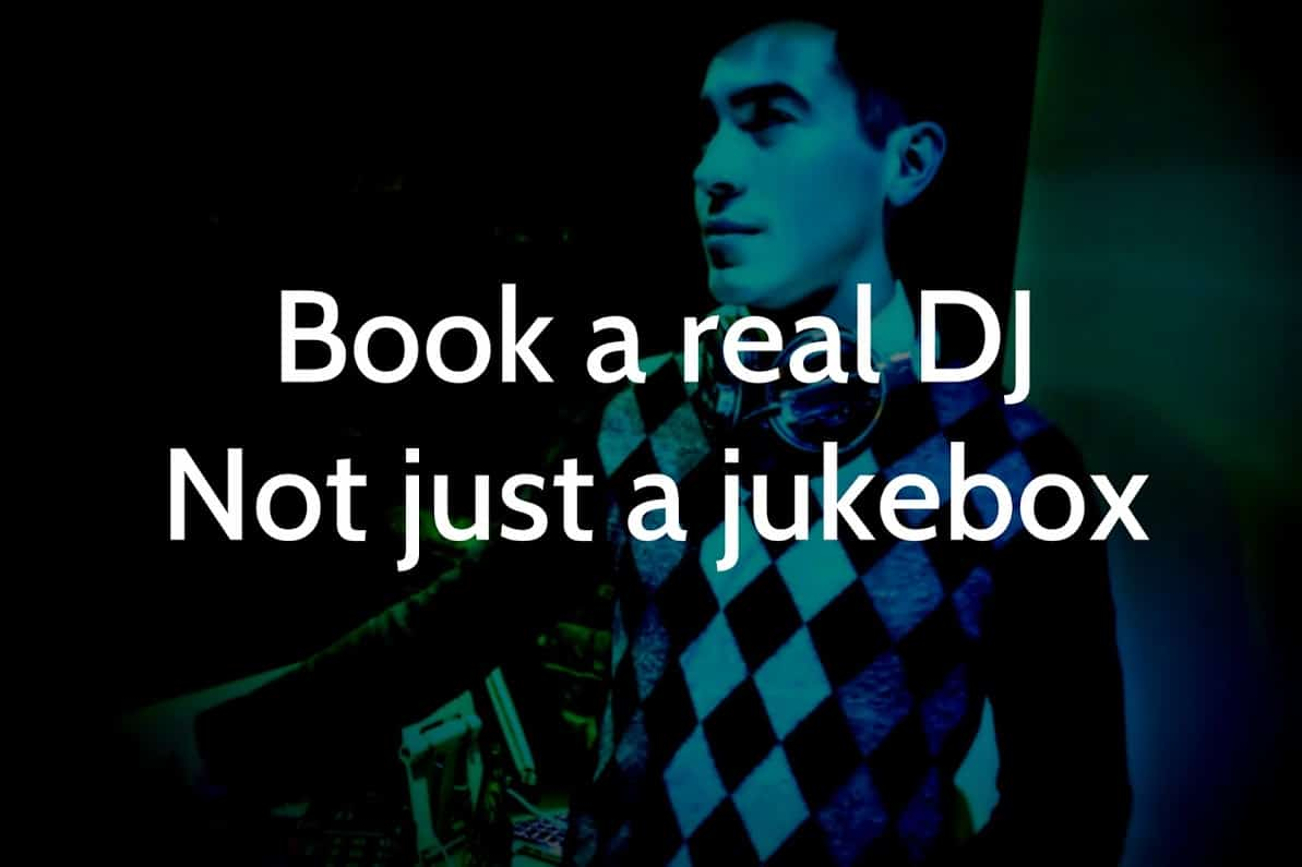 Book a Real DJ not just a Jukebox - Storm DJ agency