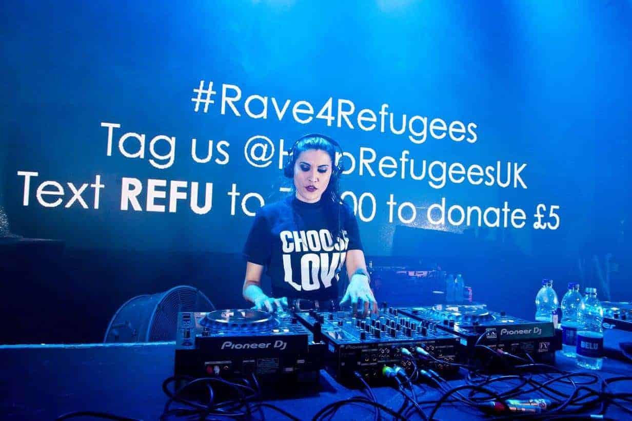 DJ Becky Saif rave pic- Storm DJs