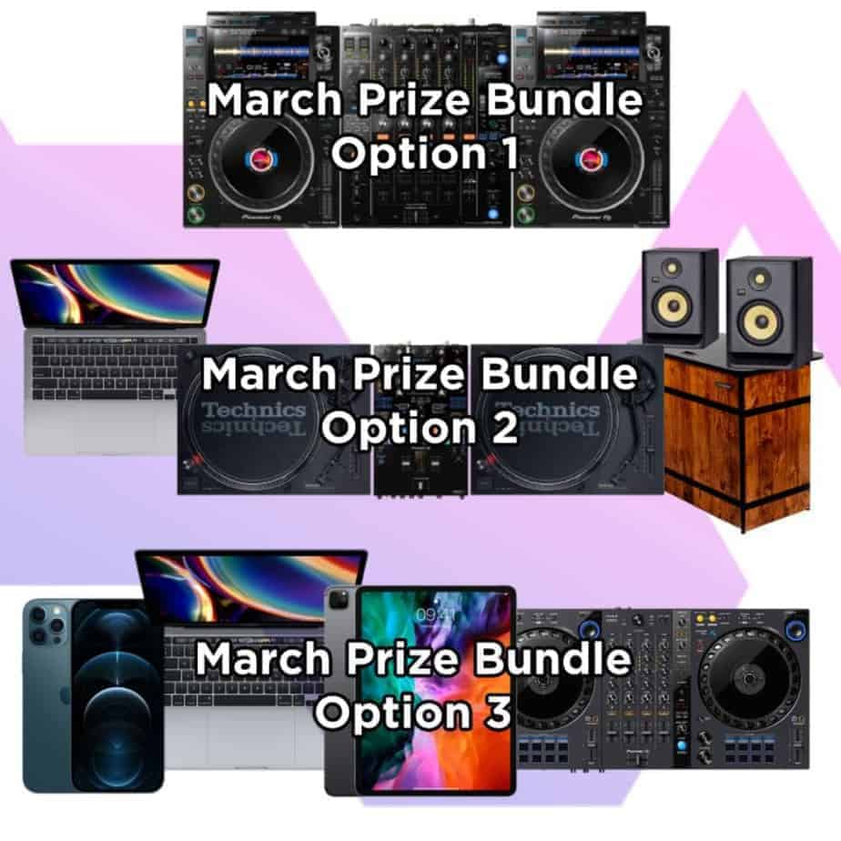 DJ Competition Prize Options - Storm DJs March Giveaway