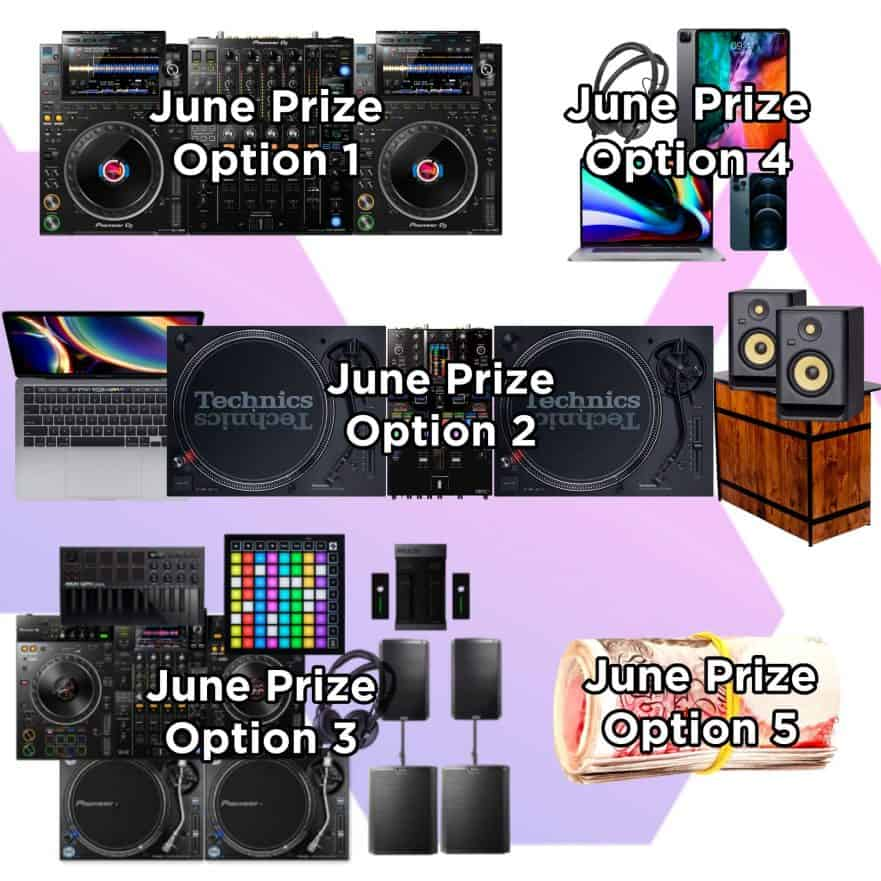Storm DJs Giveaways - June DJ Prize Options