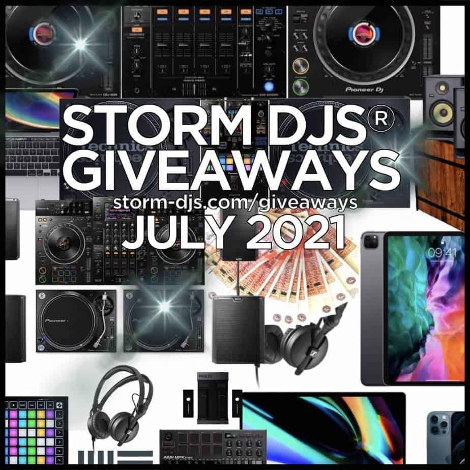 Storm DJs Giveaways - July 2021 Prize Options - CDJ3000 Technics 1210 Competition
